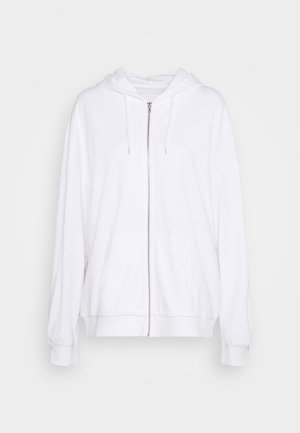 REGULAR FIT ZIP UP HOODIE JACKET - Zip-up hoodie - white