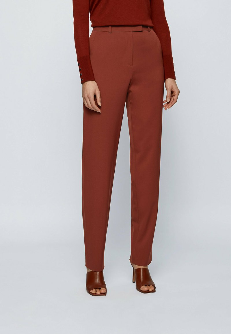 BOSS - TISLETTI - Trousers - brown