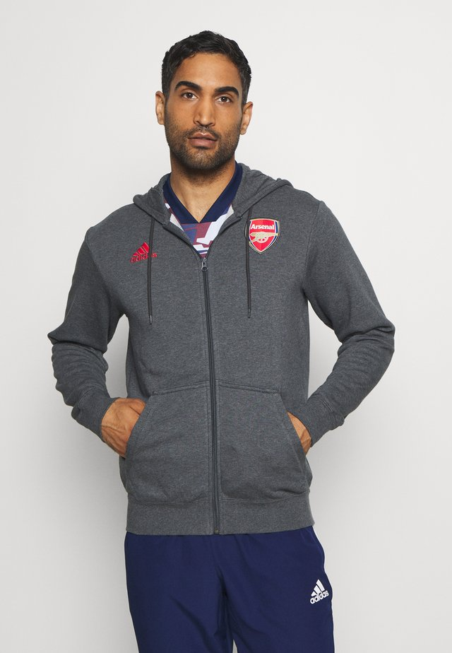 ARSENAL FC SPORTS FOOTBALL HOODED JACKET - Article de supporter - dark grey