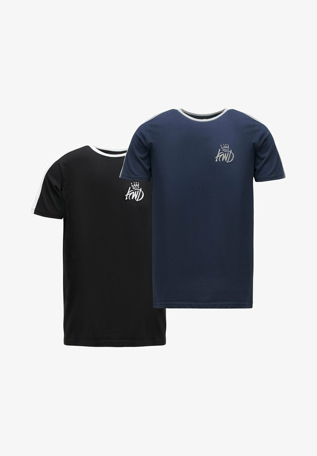 WEXFORD 2 PACK - T-shirt imprimé - black/navy