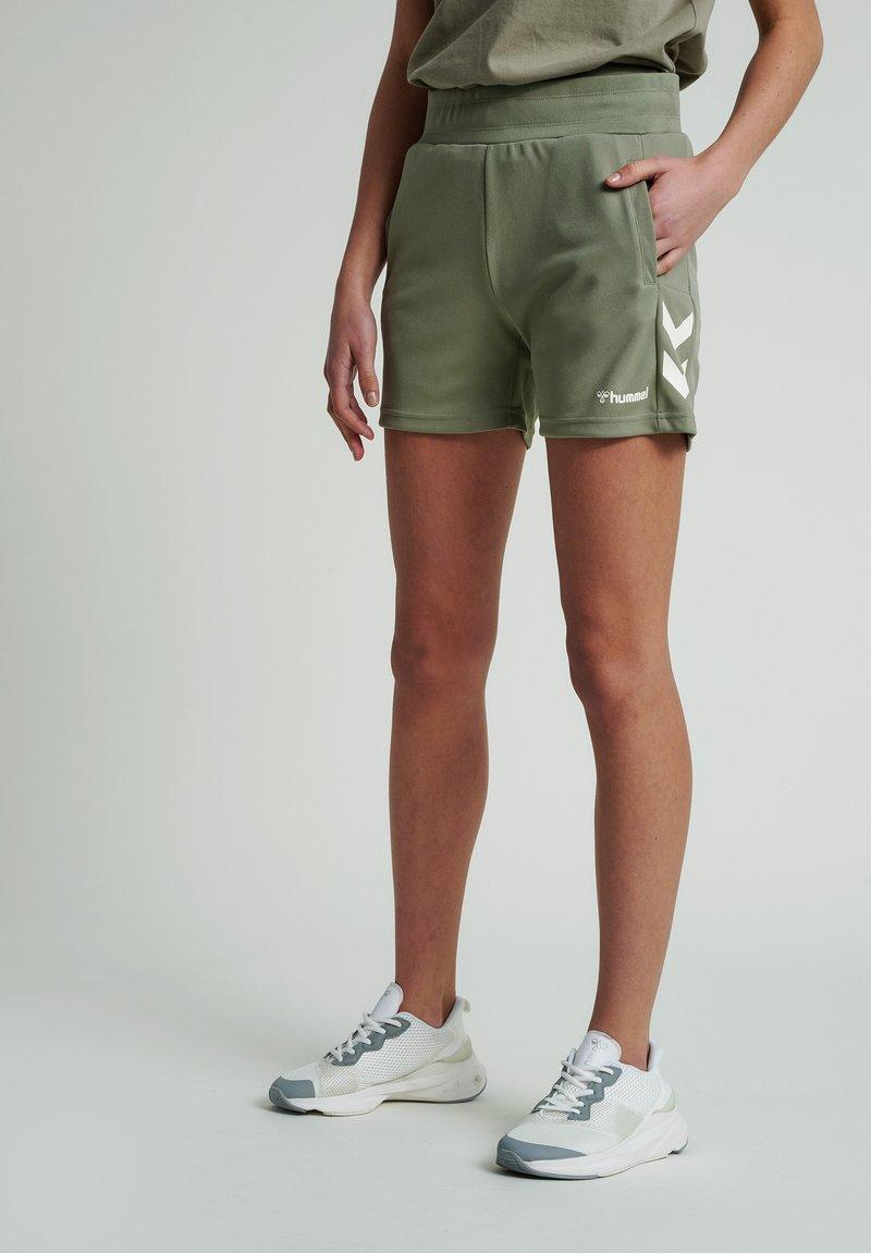 Hummel - Sports shorts - vetiver