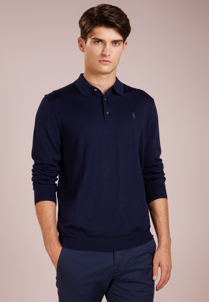 Polo Ralph Lauren - PLACKET - Stickad tröja - hunter navy
