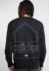 adidas Originals - RIVALRY CREW - Sweater - black/white - 4