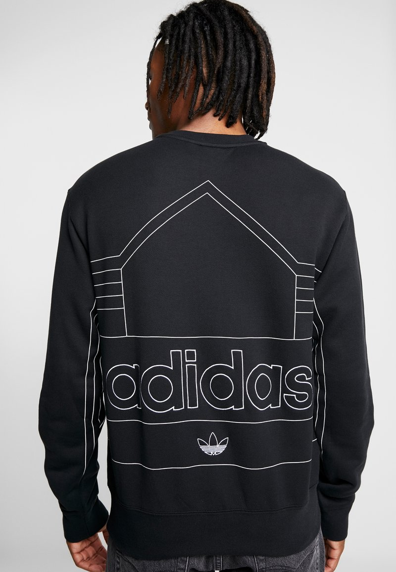 silenziosamente terrorista soleggiato  adidas Originals RIVALRY CREW - Sweatshirt - black/white - Zalando.co.uk