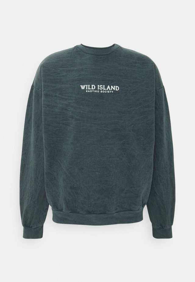 CREW TIE DYE WILD ISLAND - Sweatshirt - mucha arena verde bosque