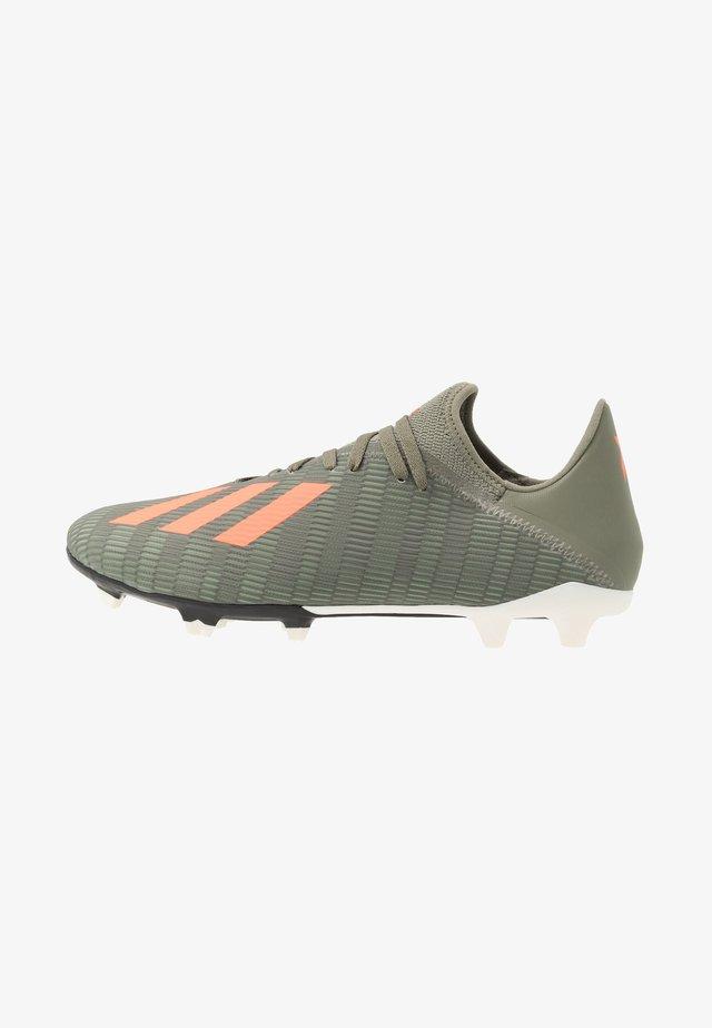 X 19.3 FG - Moulded stud football boots - legend green/solar orange/white