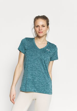 TECH TWIST - Sports shirt - dark cyan