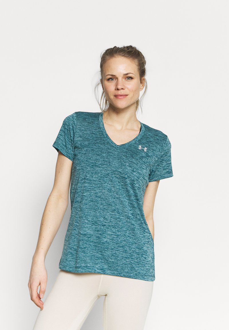 Under Armour - TECH TWIST - T-shirt sportiva - dark cyan