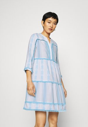 DRESS EMBROIDERED - Kjole - capri blue