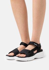 Ecoalf - SOFIA - Platform sandals - black - 0