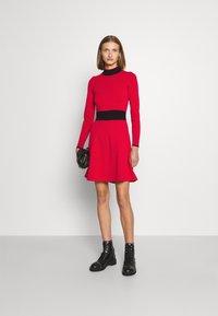 HUGO - SUMERY - Obleka/pulover - dark red - 1