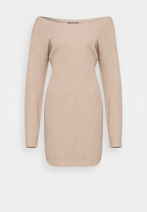 AYVAN OFF SHOULDER DRESS - Jumper dress - beige