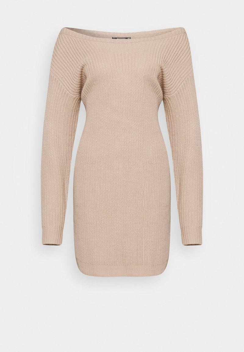 Missguided Petite - AYVAN OFF SHOULDER DRESS - Jumper dress - beige