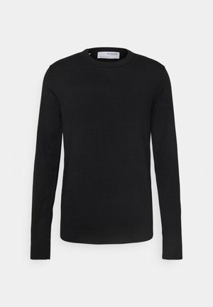 SLHTOWN MAX CREW NECK - Stickad tröja - black