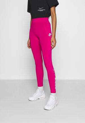 Leggings - fireberry/white