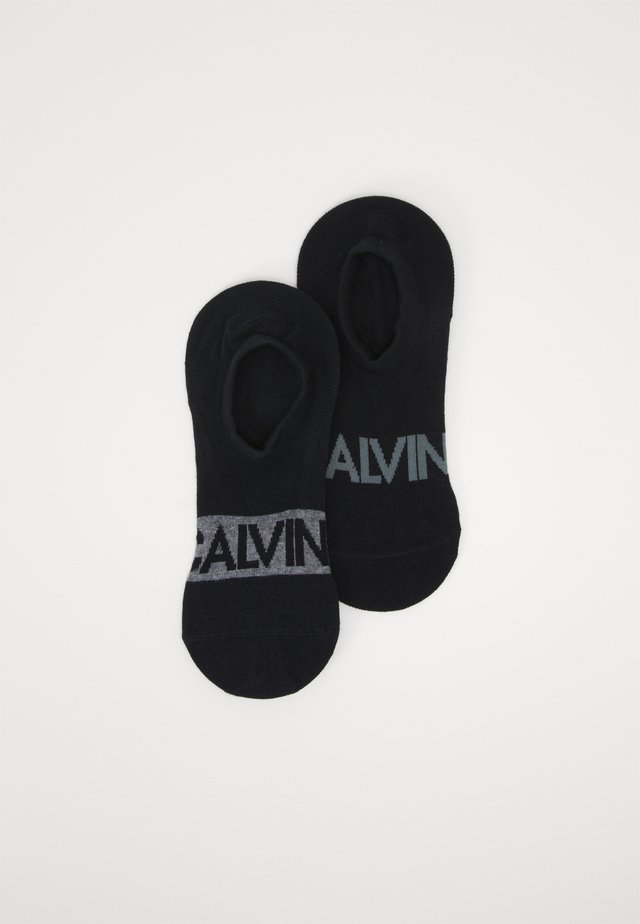LINER DEVIN 2 PACK - Trainer socks - black