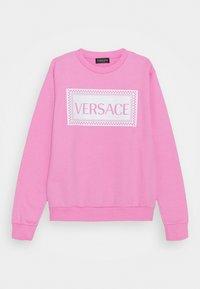 Versace - PRINT LOGO SHOW FULL UNISEX - Mikina - pink/white - 0