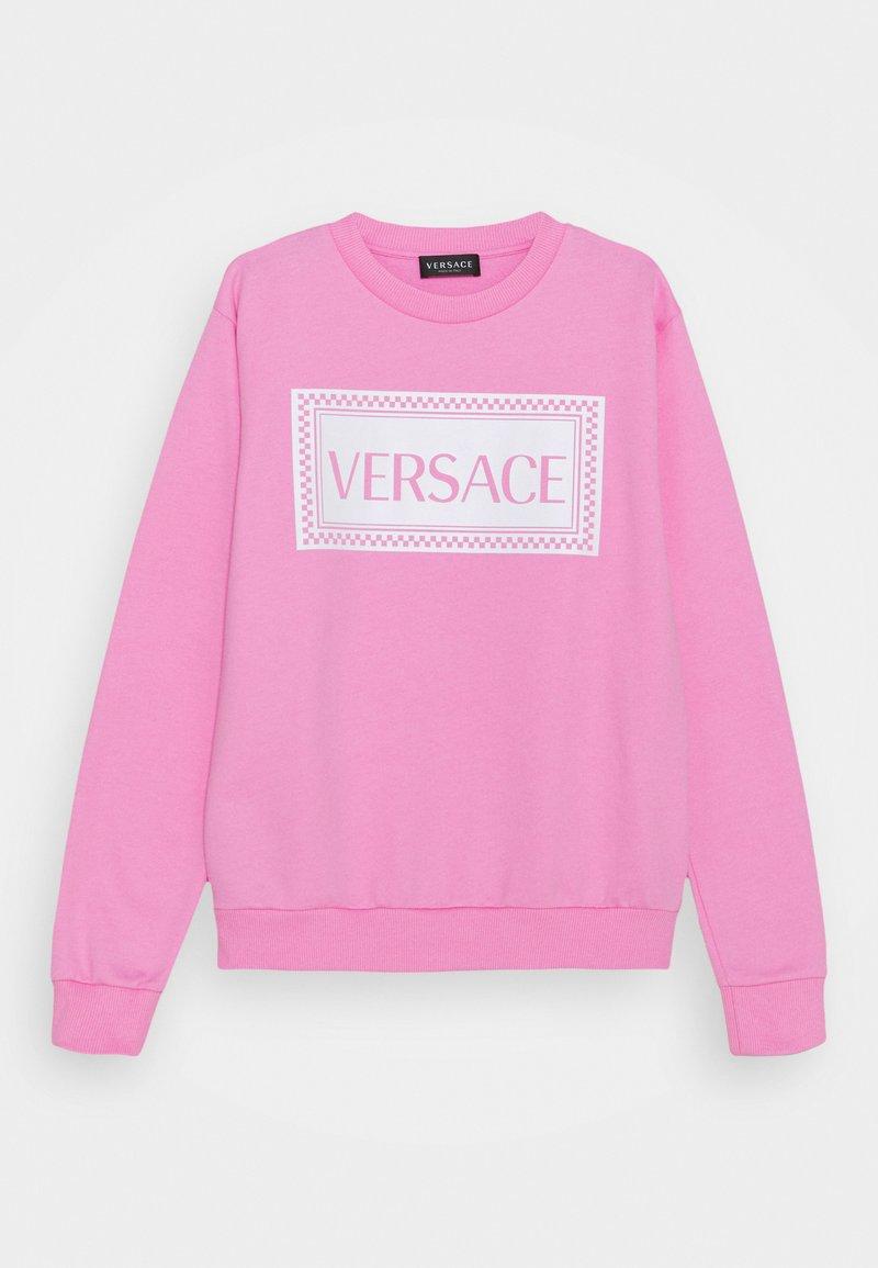 Versace - PRINT LOGO SHOW FULL UNISEX - Mikina - pink/white
