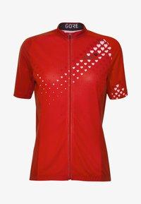 Gore Wear - GORE® C3 DAMEN HEART TRIKOT - T-Shirt print - hibiscus pink/white - 3