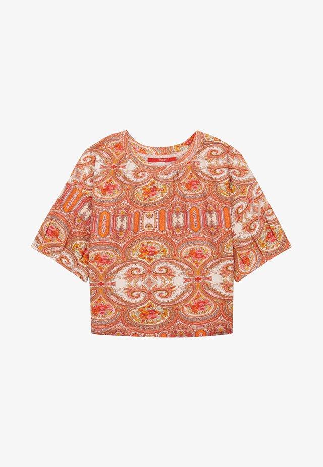 MET PAISLEY PRINT - T-shirt print - orange