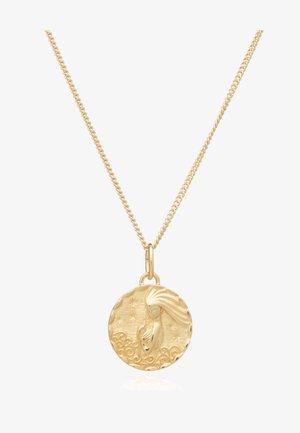ZODIAC ART COIN AQUARIUS  - Ketting - gold