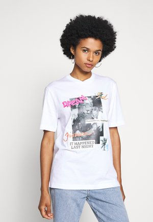 HEAVEN GOES - T-shirt z nadrukiem - white