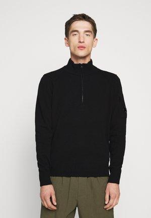 COLLAR - Stickad tröja - black
