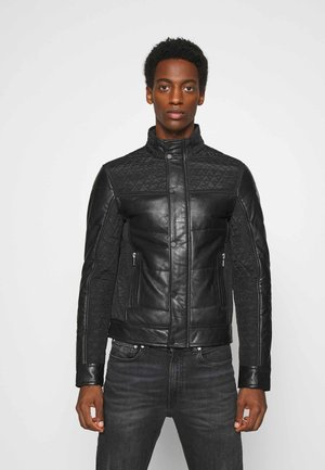 CLASS MAN - Leather jacket - black