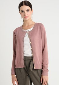 Cream - TAMMY CARDIGAN - Cardigan - old rose - 0