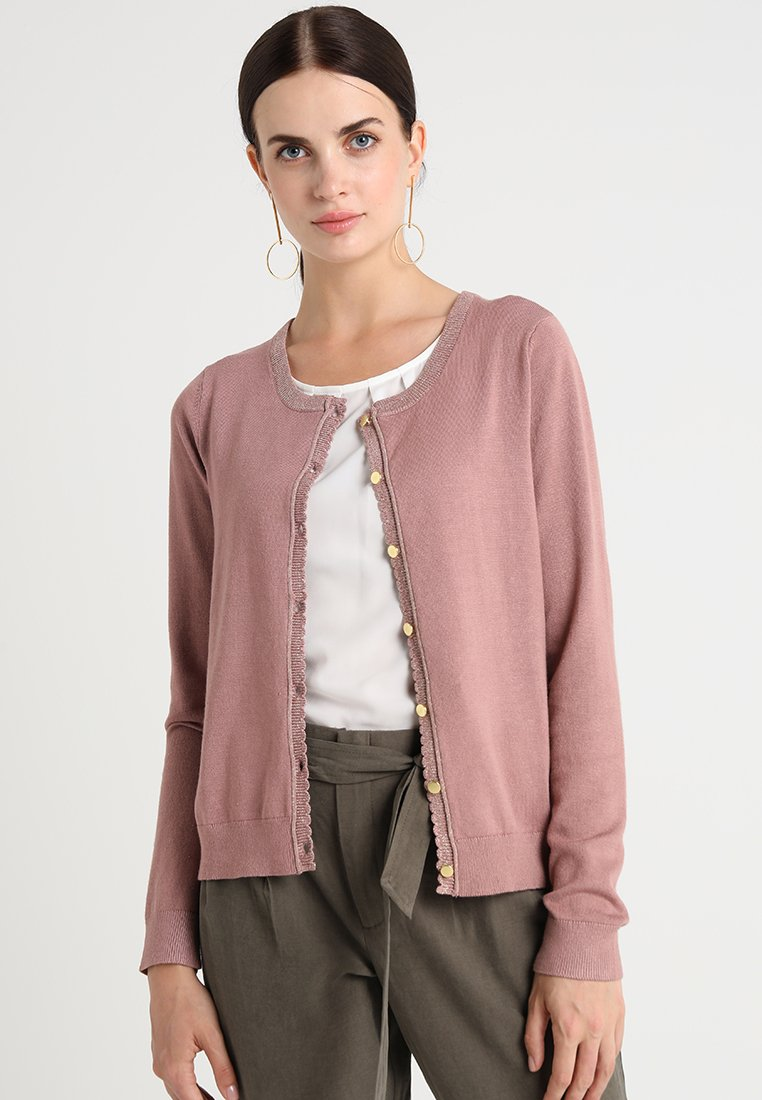 Cream - TAMMY CARDIGAN - Cardigan - old rose
