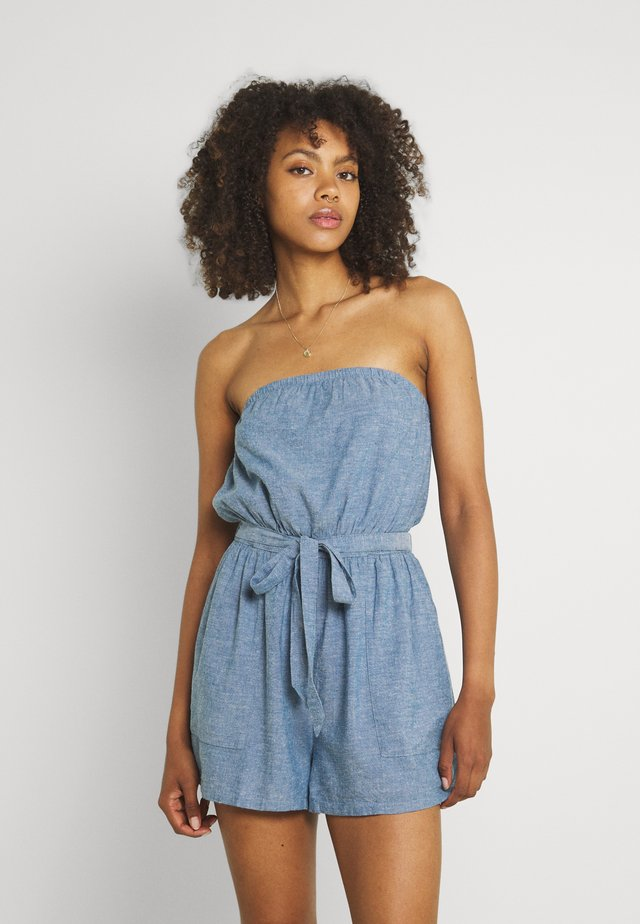 TUBE ROMPER - Overal - chambray blue