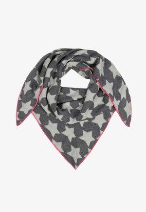 Foulard - dunkelgrau mit pinker kante