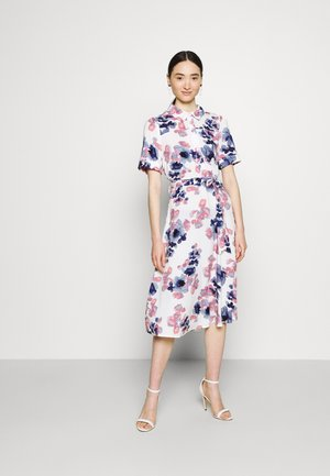 VIALA MIDI DRESS - Shirt dress - cloud dancer/watercolor