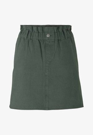 MIT BIO-BAUMWOLLE - A-line skirt - dusty pine green