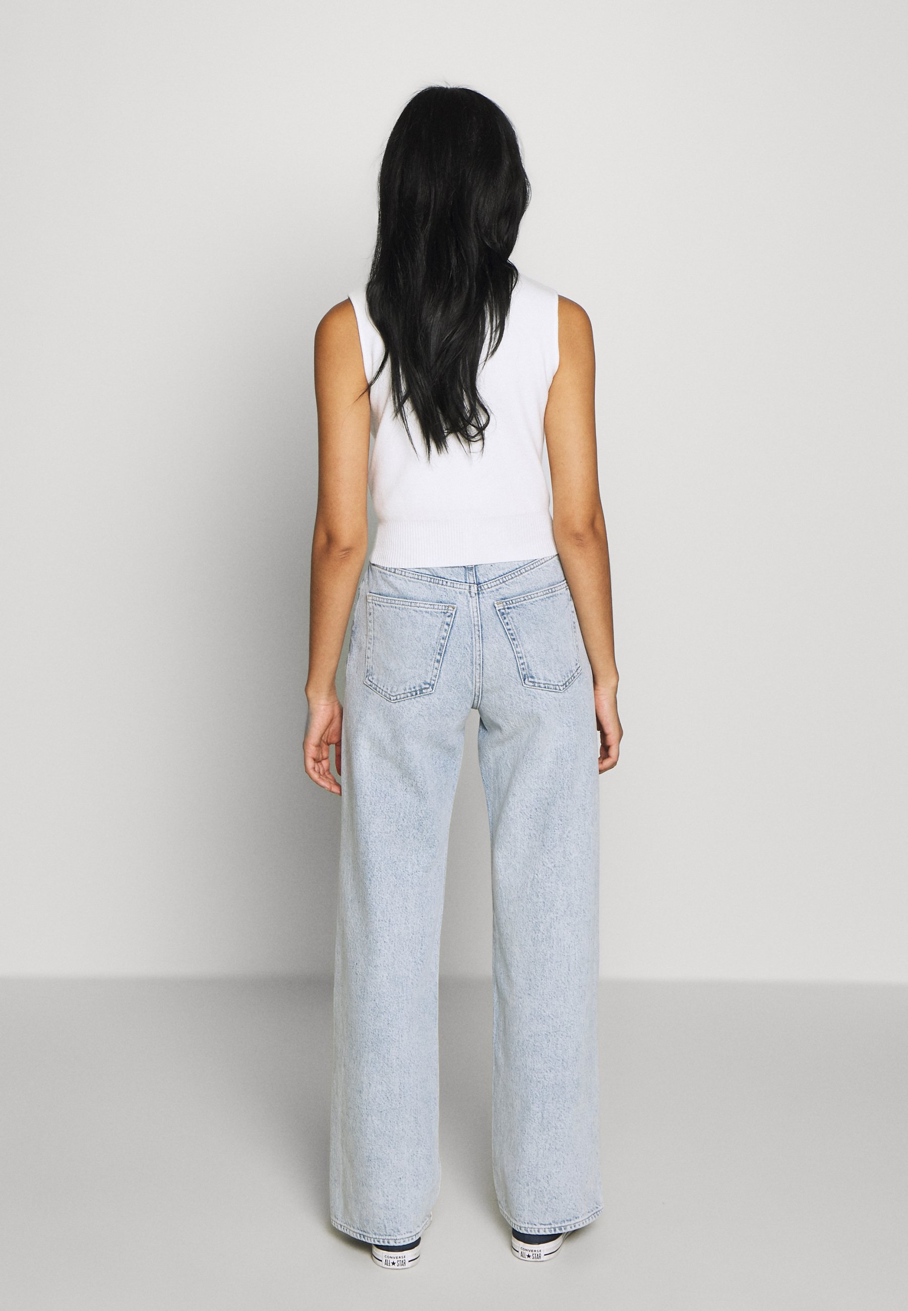 Monki YOKO Jeans relaxed fit blue dusty lightblå