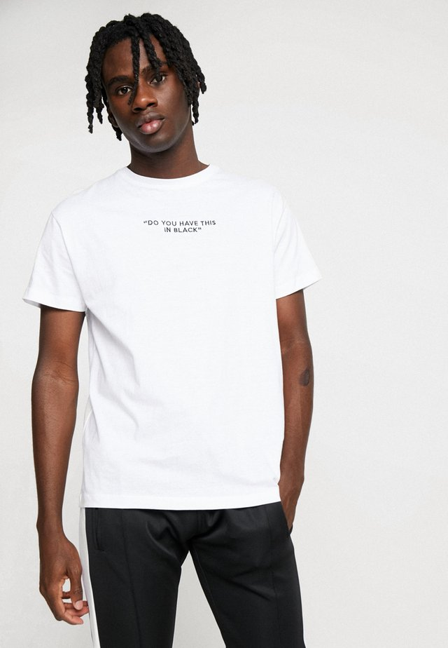 NOTIC - T-shirt con stampa - optic white