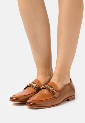 SCARLETT 45 - Slip-ons - tan/fluo orange/gold/orange/rich tan/natural