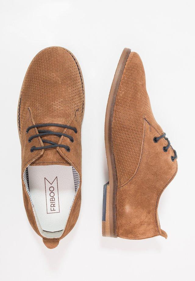 LEATHER - Oksfordki - brown