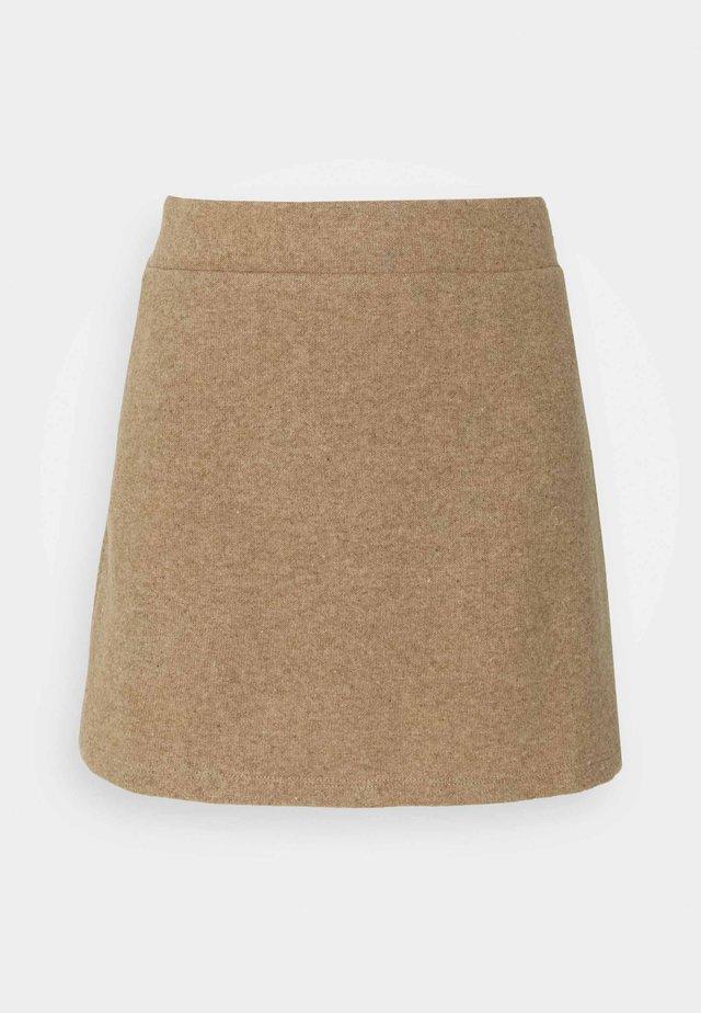 VMESRA SKIRT - Mini skirt - silver mink melange