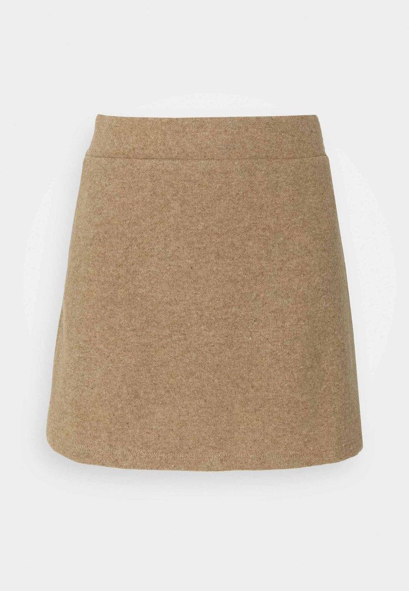 Vero Moda Petite - VMESRA SKIRT - Mini skirt - silver mink melange