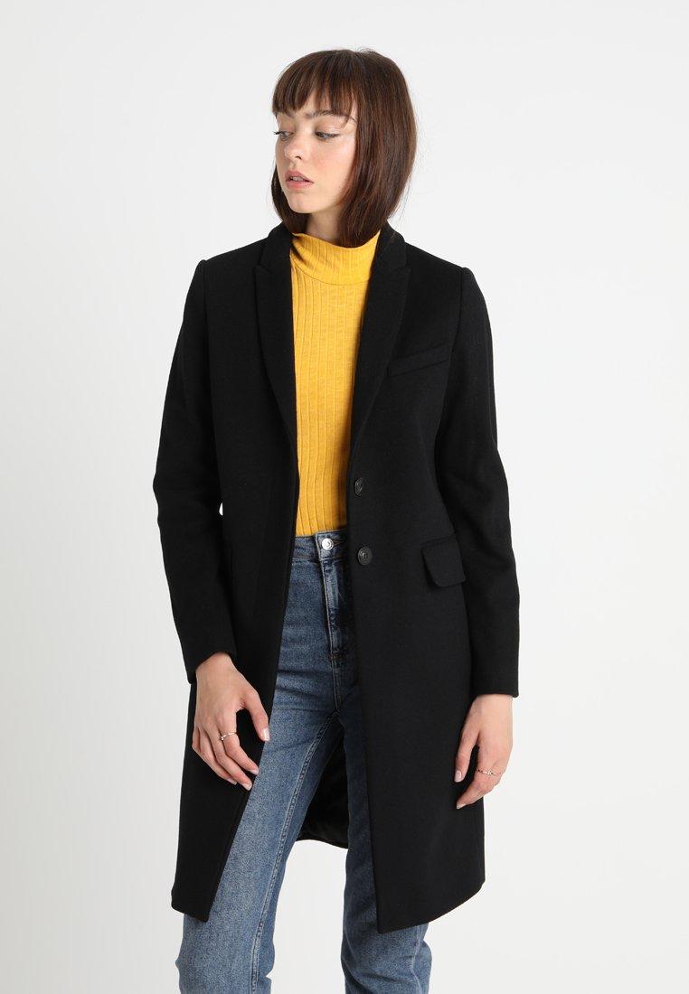 Benetton - CLASSIC TAILORED COAT - Classic coat - black