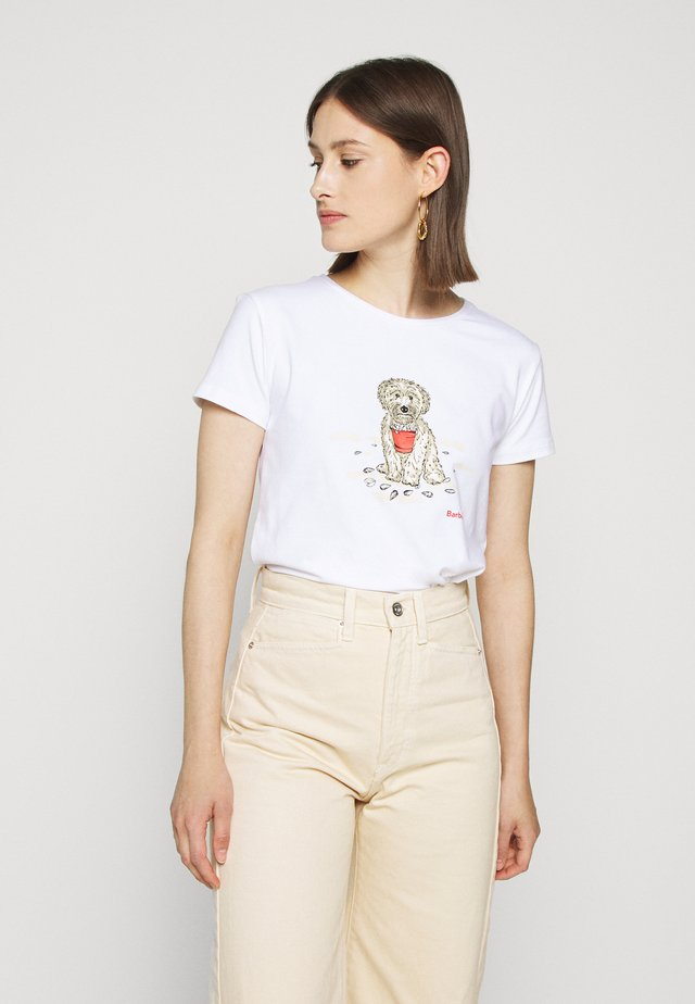 BEACH DOG TEE - T-shirt print - white