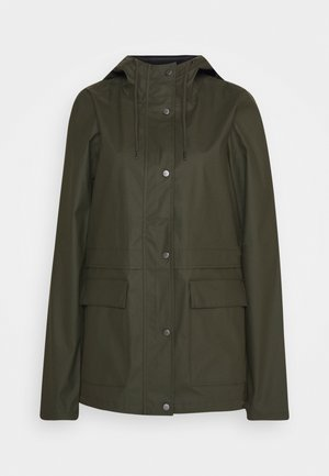ONLTRAIN RAINCOAT - Waterproof jacket - forest night