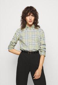 Polo Ralph Lauren - GEORGIA LONG SLEEVE - Button-down blouse - faded green - 0