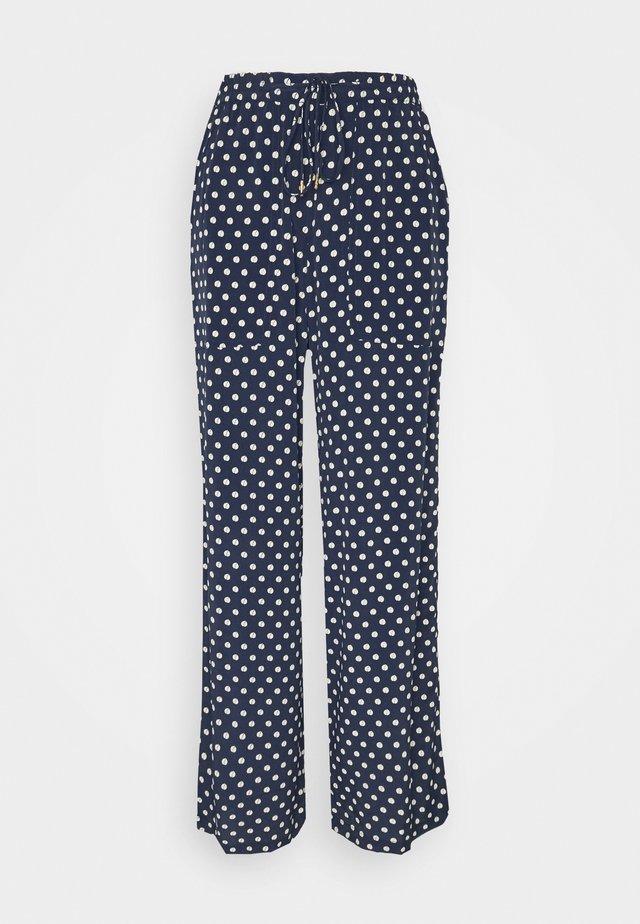 SOFT MOSS - Spodnie materiałowe - blue
