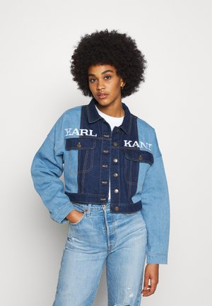 RETRO BLOCK JACKET - Giacca di jeans - blue