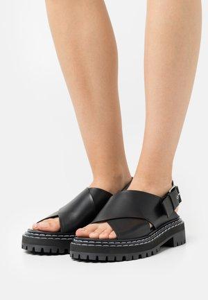 LUG SOLE - Platåsandaler - black