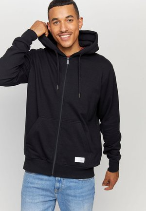 KAPUZEN BURWOOD - Zip-up sweatshirt - black