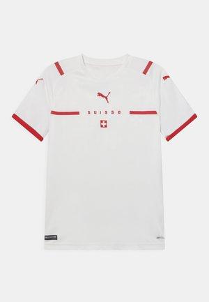 SCHWEIZ SFV AWAY UNISEX - Print T-shirt - puma white/puma red