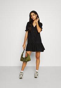 Monki - WILLA DRESS - Denní šaty - black dark - 1